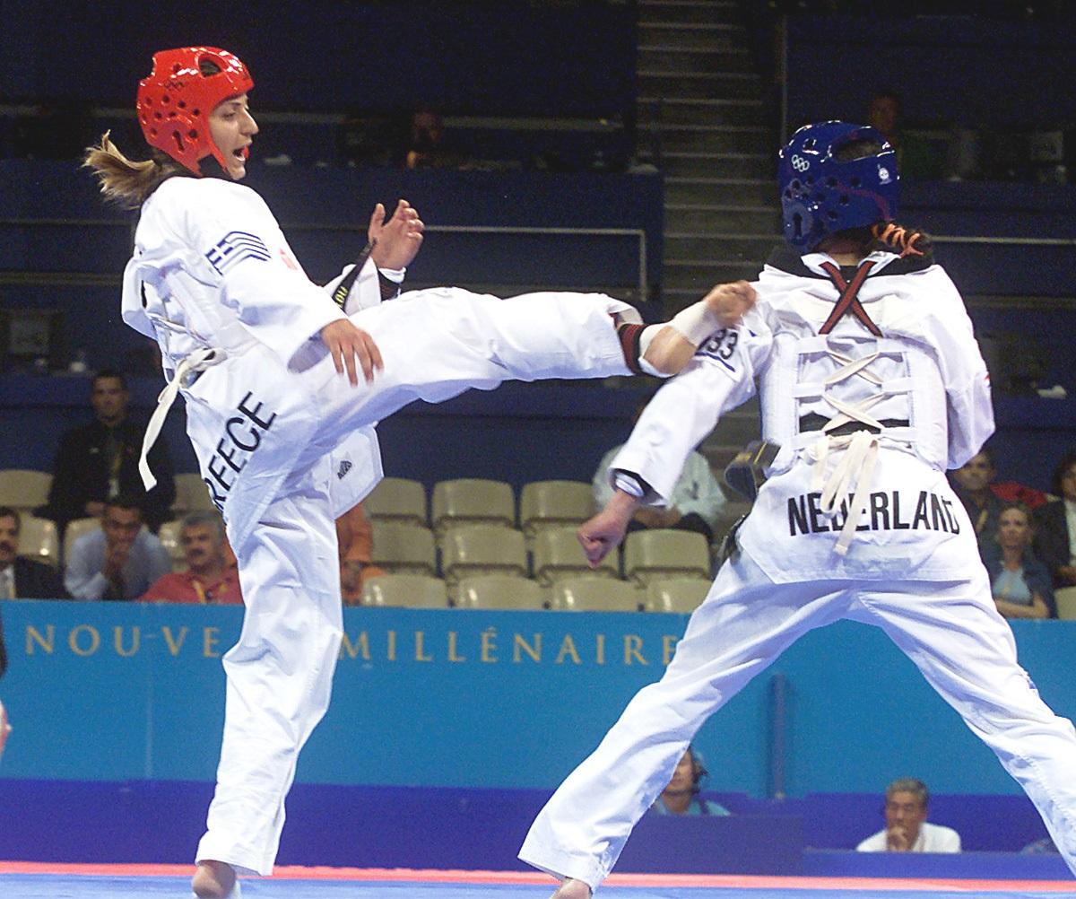 28 Σεπτεμβρίου 2000 – Η Αρετή Αθανασοπούλου στους Ολυμπιακούς Αγώνες του Σίδνεϊ 2000. ΦΩΤΟ: ACTION IMAGES – EUROKINISSI)